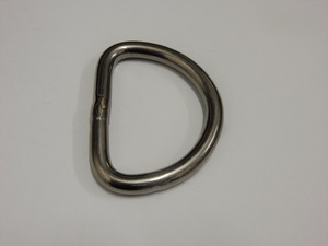 D ring 53x8, for basket winch strap, stainless steel