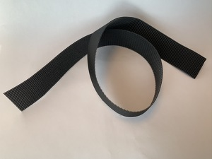VELCRO 50mm, black, hard