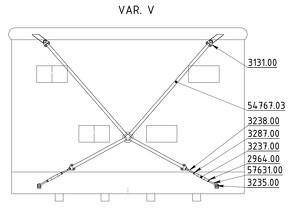 Straining beam for the wall V-cross - K25P