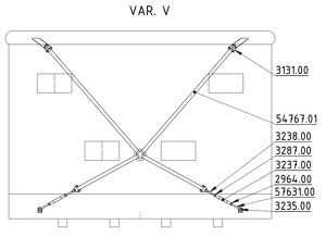 Straining beam for the wall V-cross - K28T/Y, K32T/Y, K32TT, K40T/Y, K50T/Y, K50TT