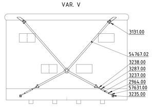 Straining beam for the wall V-cross - K50TT8, K60, K70, K80, K85