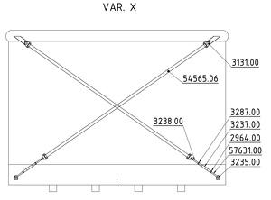 Straining beam for the wall X-cross - K13 (JAP), K17 (JAP)