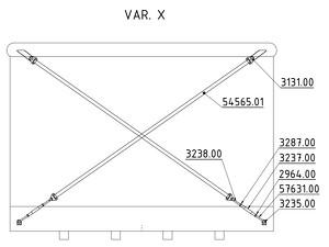 Straining beam for the wall X-cross - K25P