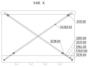 Straining beam for the wall X-cross - K28T, K32T, K32TT, K40T, K50T, K50TT