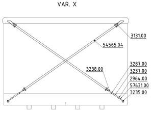 Straining beam for the wall X-cross - K90, K100, K110