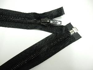 Burner rod cover zipper