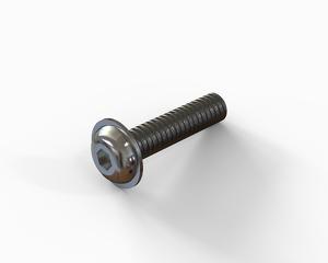 M8x35 Flange button head hexagon socket cap bolt, Stainless steel
