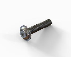 M8x40 Flange button head hexagon socket cap bolt, Stainless steel