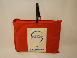 Envelope bag, square, 80x80 cm, red