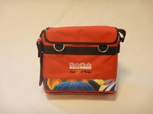 Pilot bag - textile - red