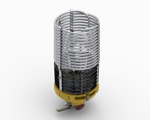 Burner unit Ignis Plus - right, one fuel hose system