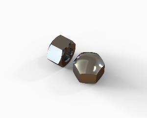 M4 Hexagon cap nut, low type, stainless steel