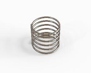 Cylindrical push spring 0,8x14,8x17