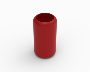 Cylinder cover (excludes foam) - KB97L, red