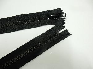 Burner rod bag zipper