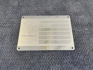 Envelope / basket identification plate