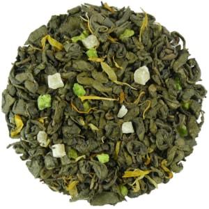 Indické léto - zelený aromatizovaný čaj