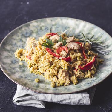 Rýže na kari s kuřecím