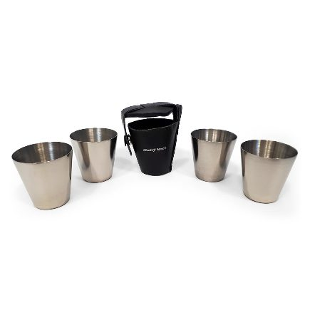 4 nerezové pohárky