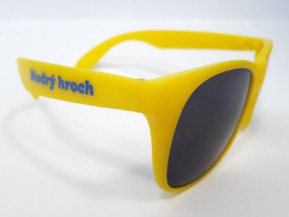 Sluneční brýle žluté - bok