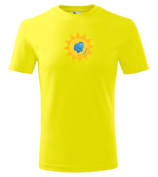 Dětské tričko Modrý hroch - žluté