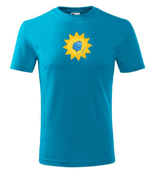 Dětské tričko Modrý hroch - modré, 122 cm