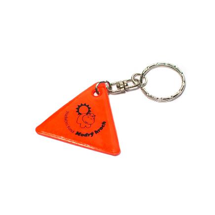 Reflexní klíčenka - červená