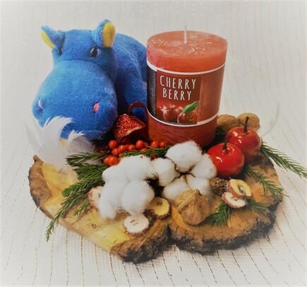 Vánoční svícen (1 svíčka)