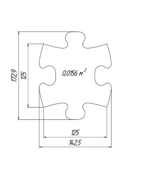 Mini tile dimensions