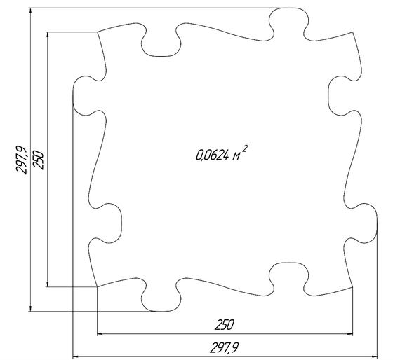 Normal tile dimensions
