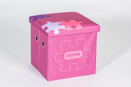 Úložný box MUFFIK malý růžový