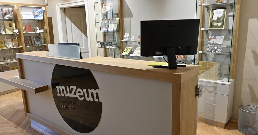 Nově zrekonstruované prostory pokladny