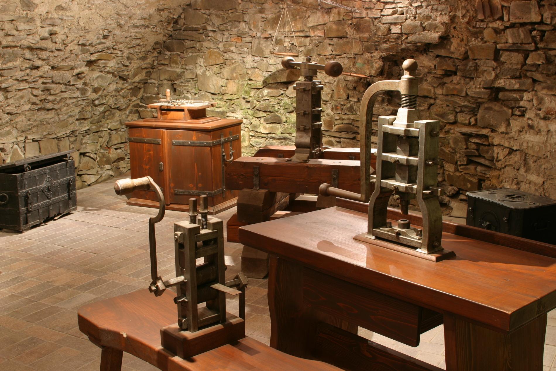 Expozice historické mincovny