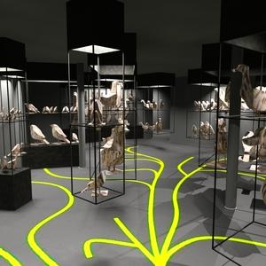 Vizualizace části nové expozice