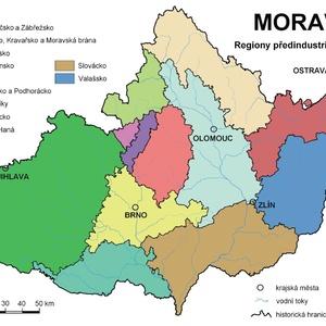 mapa Moravy_regiony