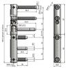 Závěs dveřní TRIO 20 MAX BZ TR M10x29 PH