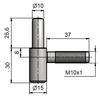 Závěs dveřní 60/10 SD M10x1/37