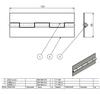 Závěs kloubový (pianový) 50x133x1,5-5