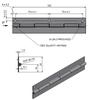 Závěs kloubový (pianový) 32x152x1,5-3
