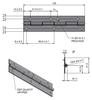 Závěs kloubový (pianový) 31,5x125x1,5-3
