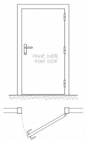 Schéma pravé dveře