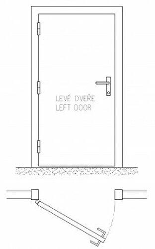 Schéma levé dveře