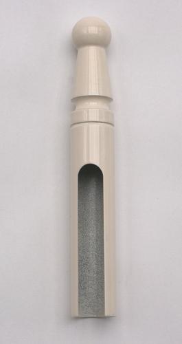 Ukázka návleku v povrchu na zakázku - bílý lak RAL9001
