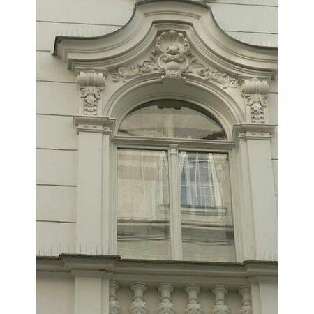 Bytový dům Brno, Masarykova ul.- detail okna