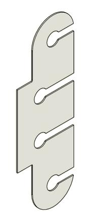 Podložka závěs dveřní TRIO 15 BP OZ