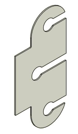 Podložka závěs dveřní TRIO 15 BP