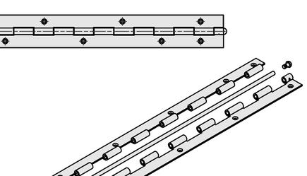 Joint hinge 50x890x2-6 inox