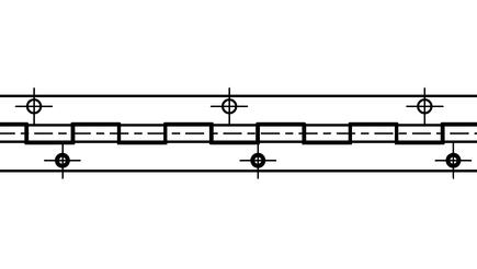 Závěs kloubový (pianový) 50x942x1,5-8 nerez
