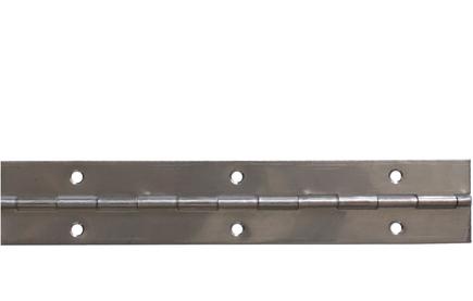 Piano hinge stainless steel 40x0,6x3480/60