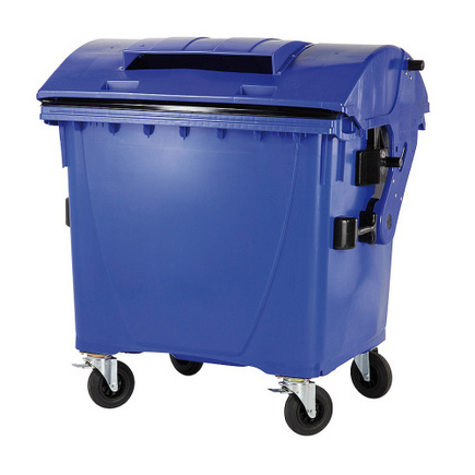 Plastový kontejner 1100 litrů, 1x vhoz, bez zámku, modrý